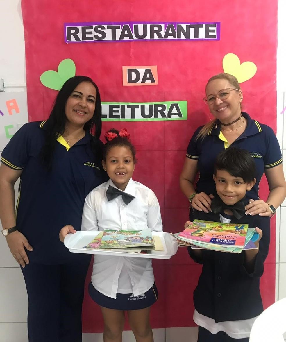 """Pratos do projeto de escola em Maceió são preparados com """"ingredientes"""" como silêncio, concentração, leitura encantamento e imaginação — Foto: Michelle Farias/G1"""