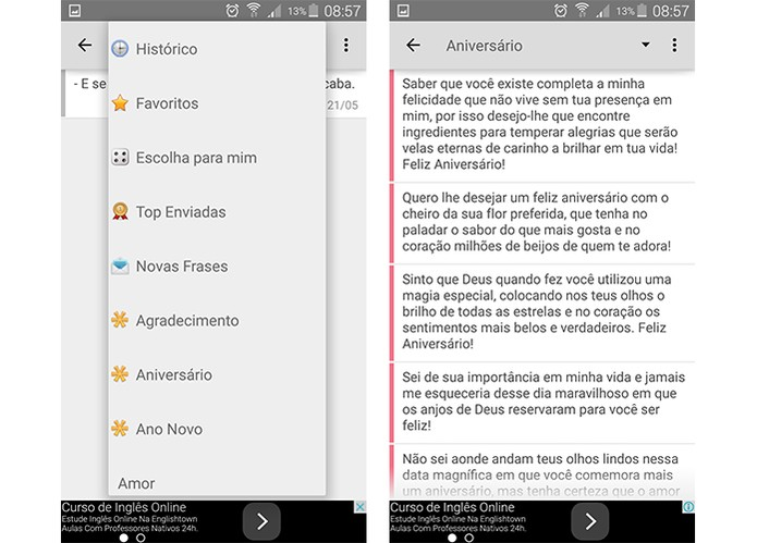 App separa recados em texto por categorias (Foto: Reprodução/Barbara Mannara)