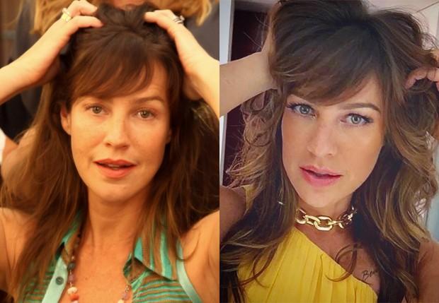 O antes e depois dos cabelos de Luana Piovani (Foto: Marcos Ribas/Brazil News e Reprodução/Instagram)