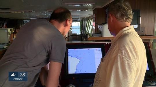 Navio alemão atracado no Recife pesquisa mudanças em oceanos
