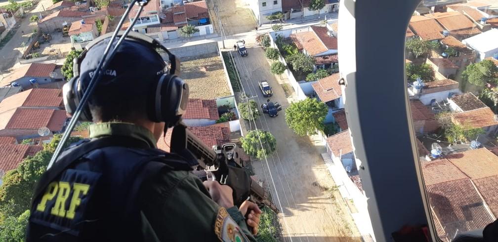 PRF apoia a operação na Bahia — Foto: Divulgação