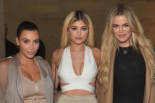Kim Kardashian, Kylie Jenner e Khloé Kardashian (Foto: Getty Images)