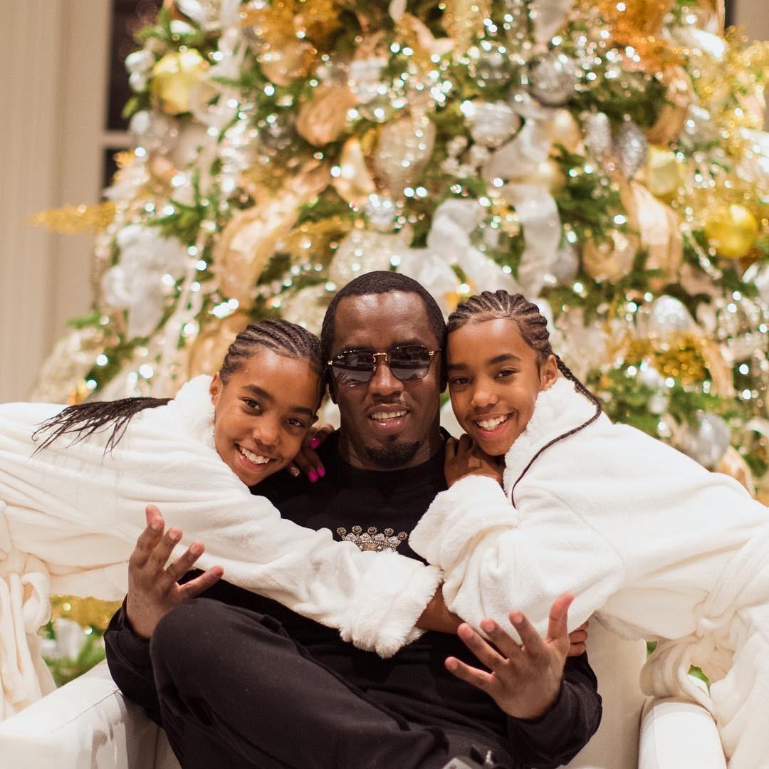 Diddy e as filhas (Foto: Reprodução/Instagram)