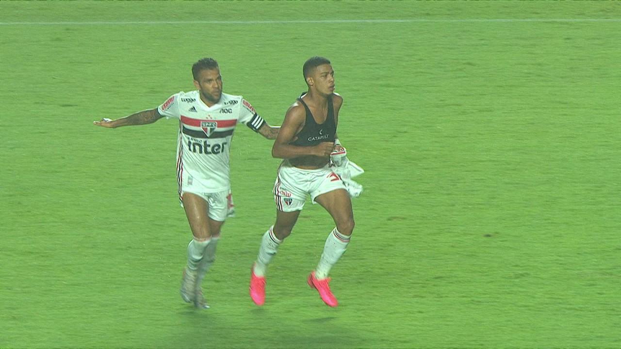 O primeiro gol de Brenner foi contra o Novorizontino, no Paulista