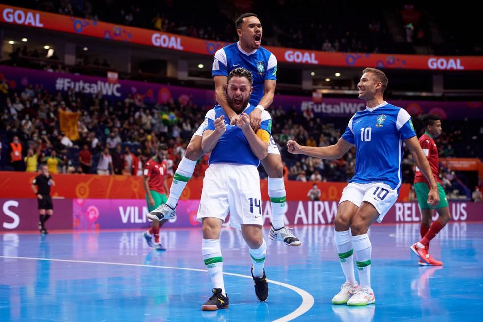 Brasil x Marrocos Mundial de Futsal — Foto: Alex Caparros/FIFA