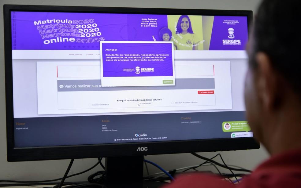 Portal da Matrícula — Foto: ASN/Divulgação