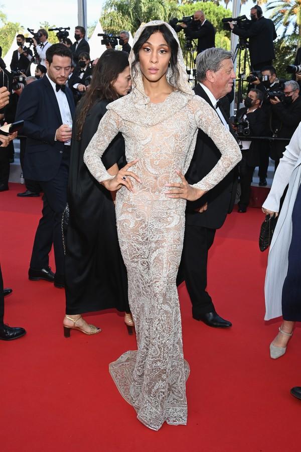 MJ Rodriguez no Festival de Cannes 2021 (Foto: Getty Images)