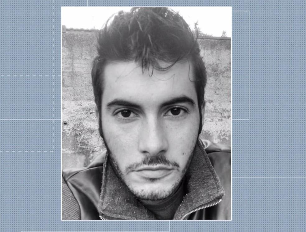 Miguel Angelo, de 25 anos, foi preso suspeito de matar Layane da Silva, de 19 anos, em São José dos Pinhais. — Foto: Reprodução/RPC