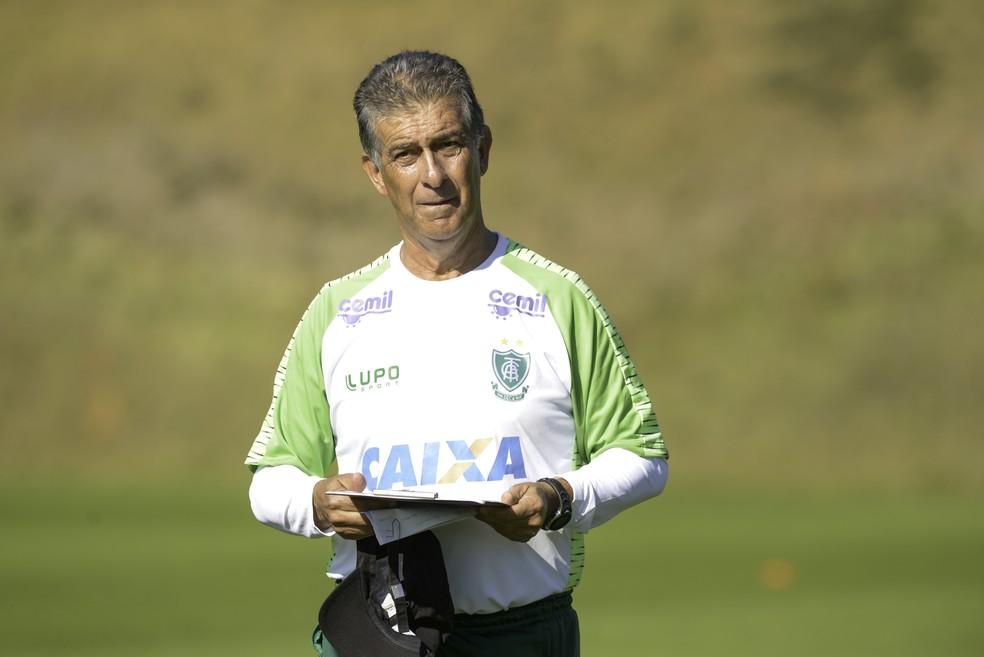 Ricardo Drubscky, agora técnico do América-MG (Foto: Mourão Panda / América-MG)