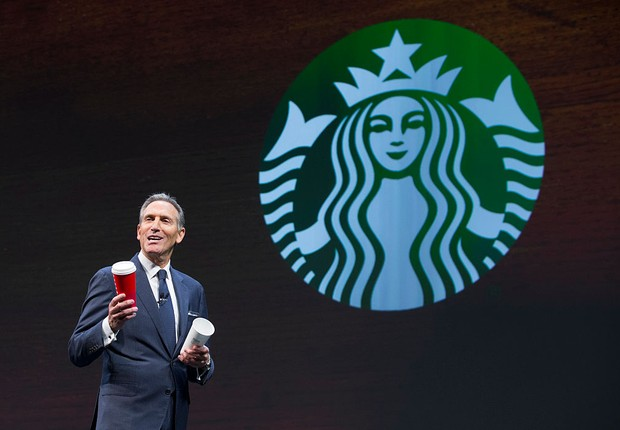 Howard Schultz, CEO do Starbucks (Foto: Stephen Brashear/Getty Images)