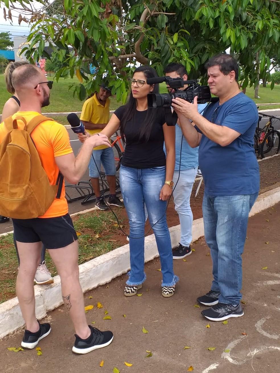 O curso oferece ao aluno como é a vida de um repórter, de forma dinâmica através de módulos — Foto: Heloísa Maria Carvalho/Arquivo pessoal