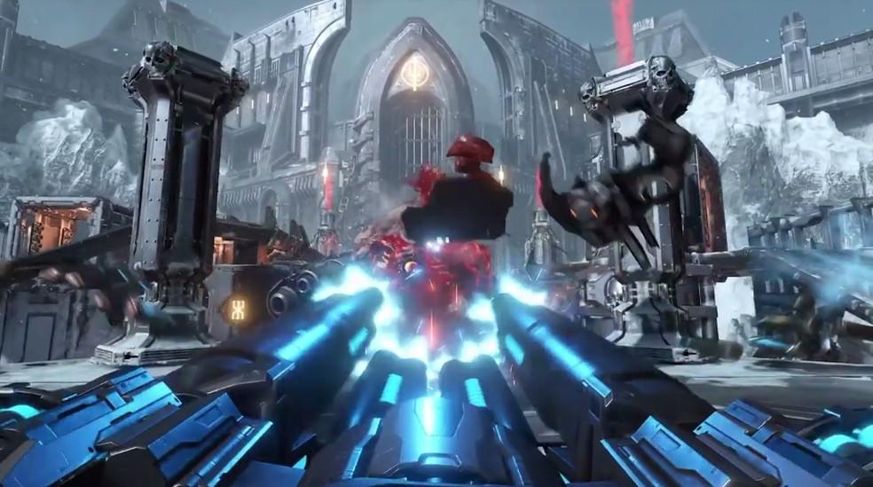 Gameplay de Doom Eternal é mostrado na conferência — Foto: Reprodução/Bethesda