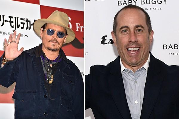 Os atores Johnny Depp e Jerry Seinfeld estão no top 10 de atores mais ricos (Foto: Getty Images)