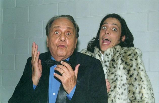 Jorge Dória e Lúcio Mauro Filho eram o machista Maurição e o filho gay Alfredinho. 'Mas onde foi que eu errei?' era a frase do pai (Foto: Divulgação)