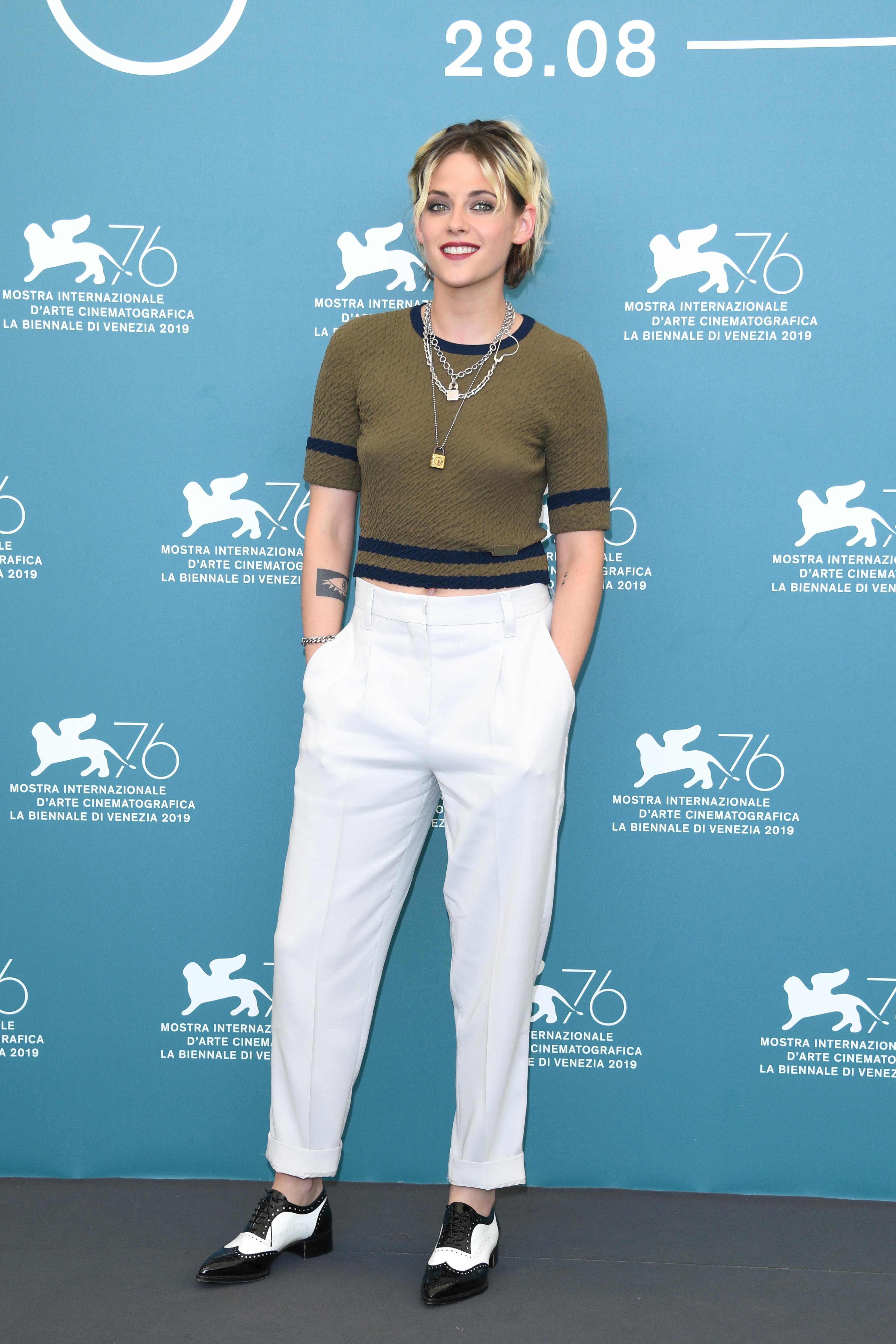 Kristen Stewart was at the film festival in Venice, Italy (picture: Getty Images)