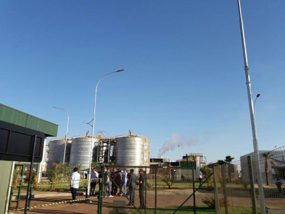 Primeira indústria de etanol de milho do país é inaugurada em MT nesta sexta-feira (Foto: André Souza/ G1)