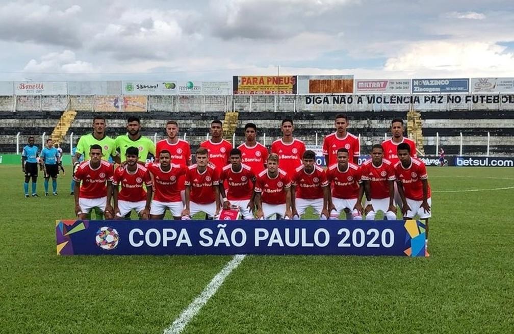 Time do Internacional na estreia na Copa São Paulo — Foto: Divulgação / Internacional