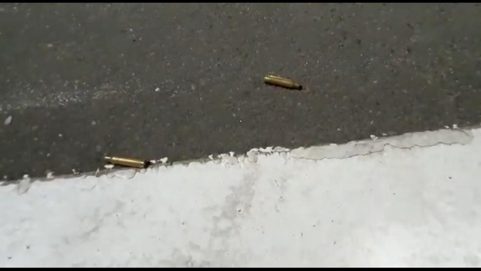 Munição usada pelos criminosos durante assalto em Criciúma — Foto: Reprodução/ NSC TV
