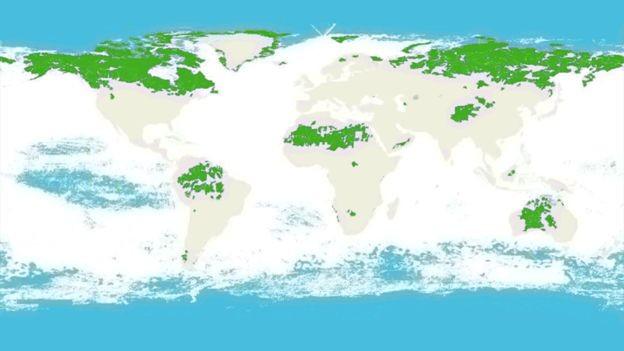 Austrália, Brasil, Canadá, EUA e Rússia são os cinco países que abrigam a maior área de natureza intacta no mundo (Foto: BBC)