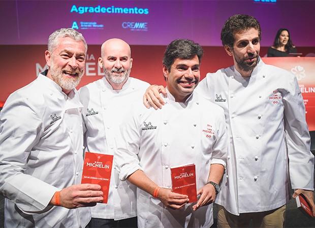Alex Atala, Geovane Carneiro, Felipe Bronze e Ivan Ralston (Foto: Alexandre Virgílio/ Divulgação)
