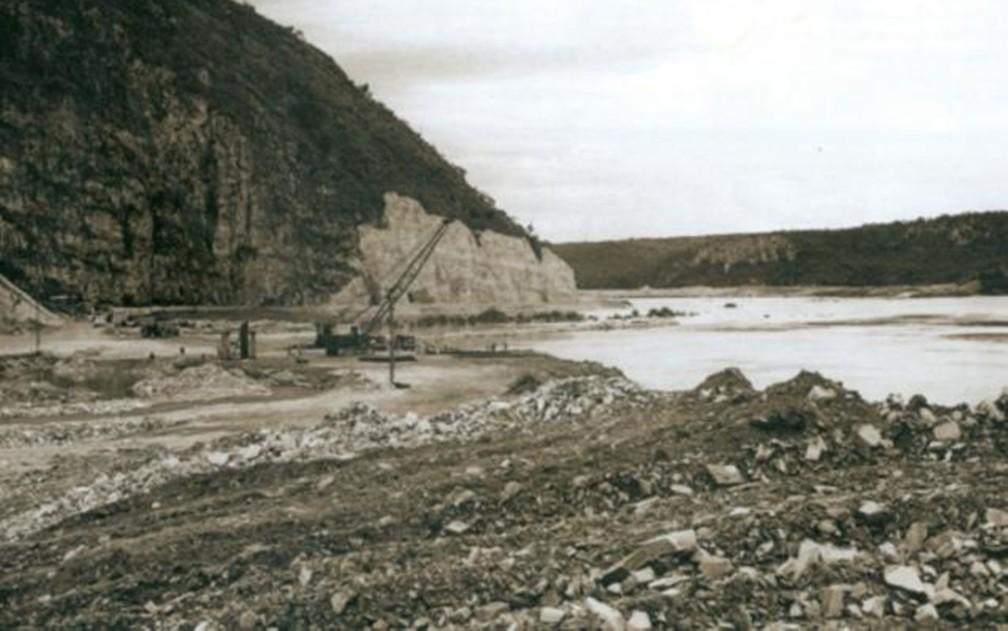 Área em São José da Barra, onde represa e hidrelétrica foram construídas — Foto: Acervo Furnas