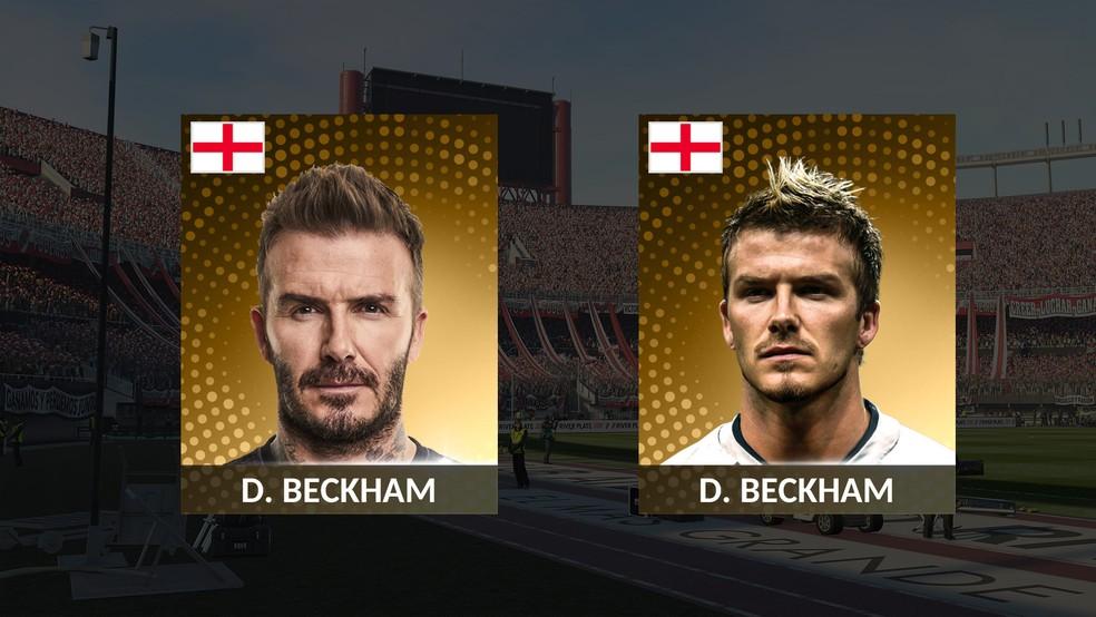 Beckham conta com duas versões lendárias em PES 2019 (Foto: Reprodução/Murilo Molina)