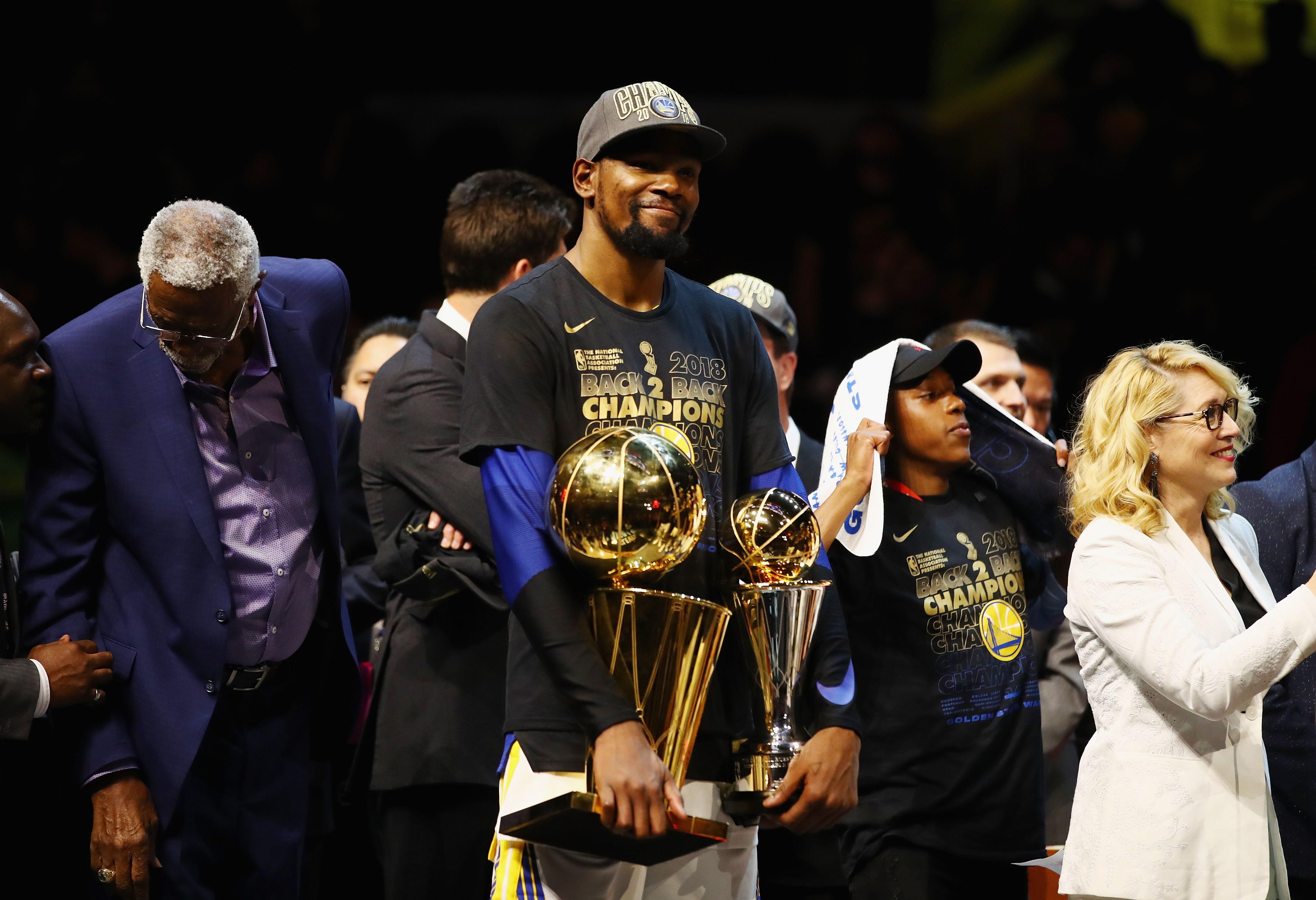 Kevin Durant foi MVP das finais por dois anos seguidos