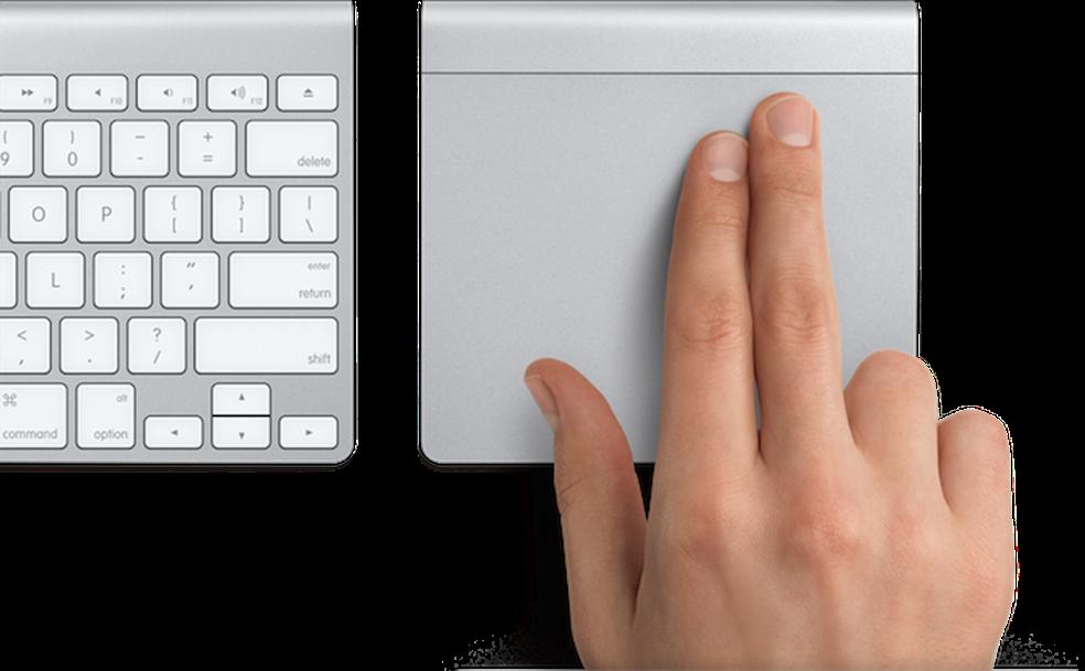 Trackpad: um dispositivo mutitouch para comandar seu computador — Foto: Divulgação/Apple