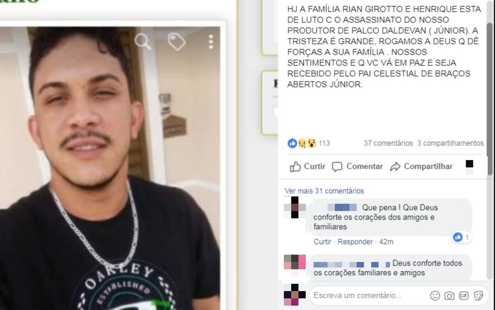 Produtor de shows é morto a facadas ao sair de festa, após defender namorada de assédio na Bahia â?? Foto: Reprodução/Redes Sociais
