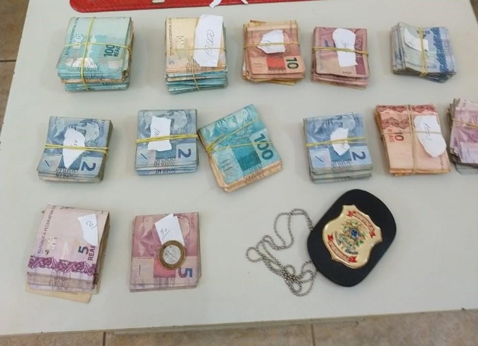 Dinheiro apreendido em operação da Polícia Federal — Foto: Polícia Federal/Divulgação