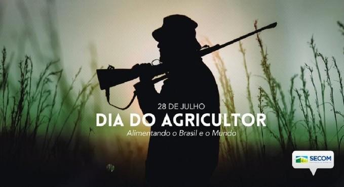 Post da SECOM comemorando o Dia do Agricultor