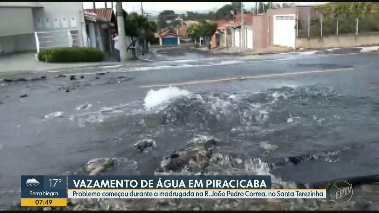 Vazamento pode prejudicar abastecimento de água em Piracicaba nesta quinta-feira