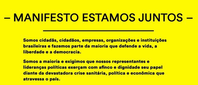 Manifesto Estamos Juntos