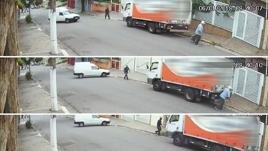 Idoso que morreu atropelado por caminhão em marcha à ré na Grande SP estava a menos de 10 metros de casa