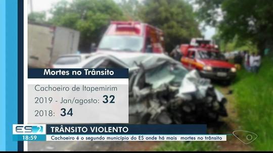 Cachoeiro de Itapemirim é o segundo município com mais mortes no trânsito, no ES