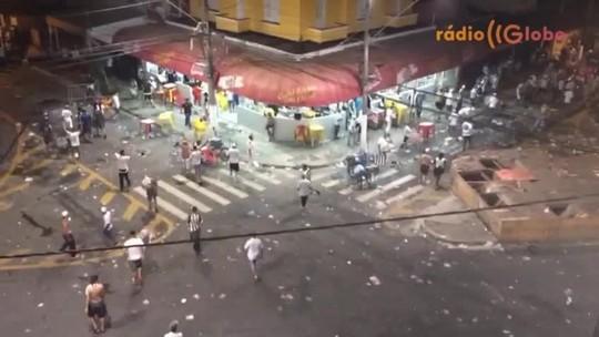 Após eliminação, torcedores do Santos entram em conflito com PMs