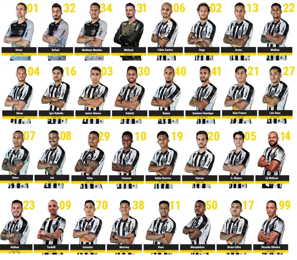 Alonso Com A 3 Blanco 5 Keno 11 Atletico Mg Atualiza Site Com Nova Camisa E Numeracao Veja Lista Atletico Mg Ge