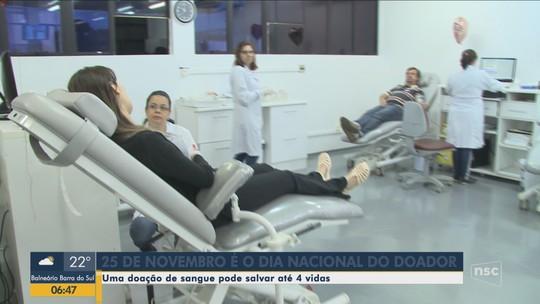 Hemosc faz homenagens e ações de incentivo para doadores de sangue