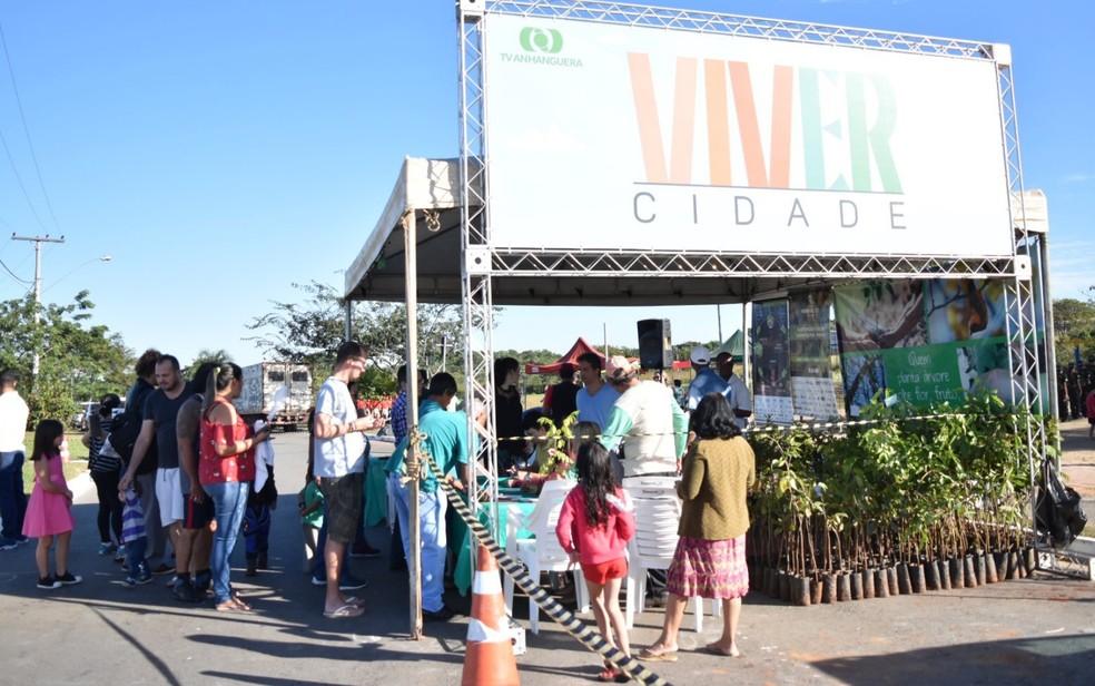Viver Cidade acontece no Parque Leolídio Di Ramos Caiado, no Setor Goiânia 2, em Goiânia, Goiás — Foto: Vanessa Martins/ G1