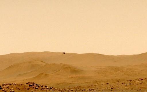 """Helicóptero Ingenuity faz seu primeiro voo """"só de ida"""" em Marte"""