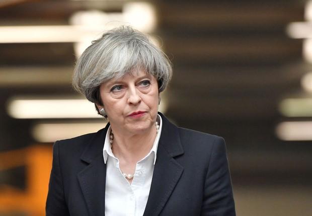 A primeira-ministra britânica Theresa May em campanha antes da eleição no Reino Unido (Foto: Ben Stansall/Getty Images)