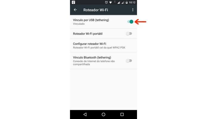 Android funcionando como receptor Wi-Fi para computador (Foto: Reprodução/Raquel Freire)