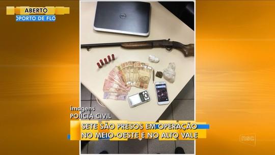 Oito são presos em duas operações na quarta-feira contra o tráfico e o crime organizado