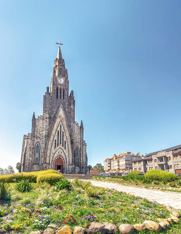 Canela Stone Cathedral (Our Lady of Lourdes church) - Canela, Rio Grande do Sul, Brazil (Foto: Getty Images/iStockphoto)