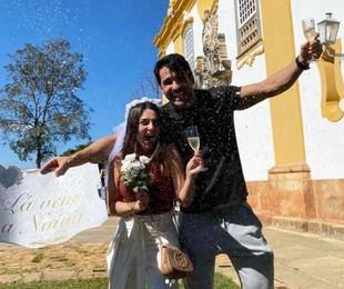 Marcela Barrozo e o noivo   Reprodução Instagram