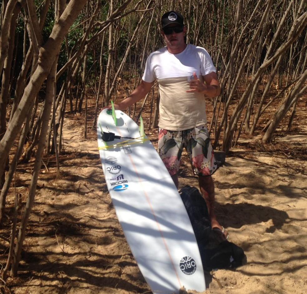 Xandinho confere condições e se dá bem no adeus às ondas em Fernando de Noronha (Foto: Arquivo pessoal)