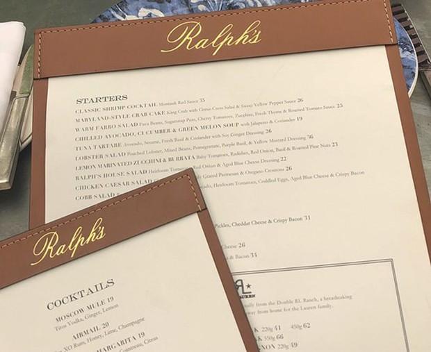 Menu do restaurante Le Ralphs (Foto: Reprodução/ Divulgação)