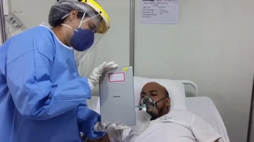 Tecnologia é usada para manter pacientes com Covid-19 em contato com familiares no AP