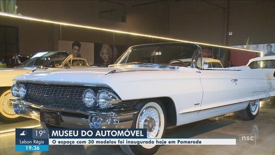 Museu com carros antigos é inaugurado em Pomerode