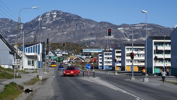 Nuuk, capital da Groenlândia  (Foto: Reprodução/Wikimedia Commons)